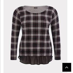Torrid plaid sweater size 00 (10) M/L